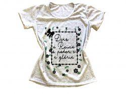 Blusa T-Shirts  - Deus é reino